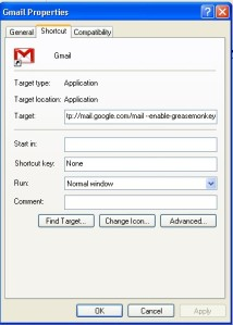 "add "" enable-greasemonkey"" to the targets of appropriate shortcut icons in the Properties dialog"