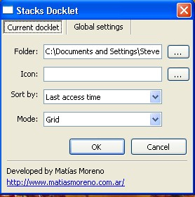 Stack Settings Dialog
