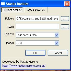 Stack Settings Dialog