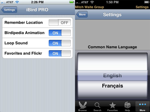 Global and app settings
