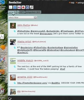 feedalizr: one stop desktop social aggregater