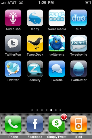 SimplyTweet Stands Out: that is a push notification on that icon!